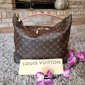 Authentic Louis Vuitton Sully MM Mono Shoulder Bag